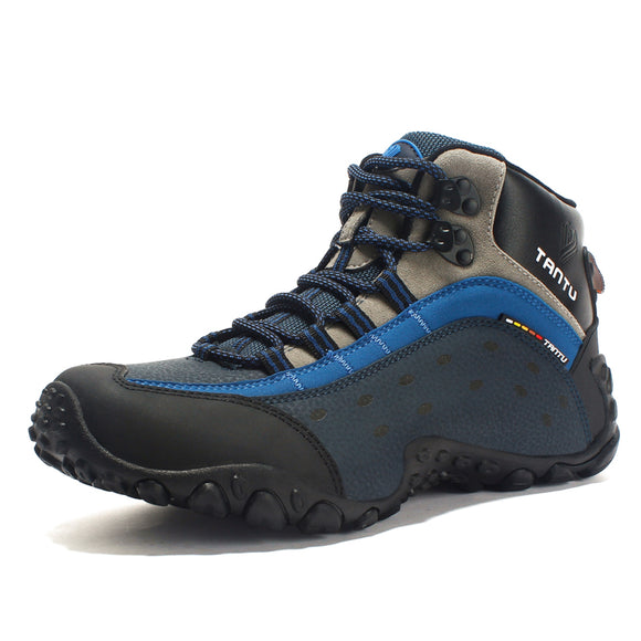 Size 39-46 Outdoor Hiking Shoes Lightweight Breathable leather Trekking Boots