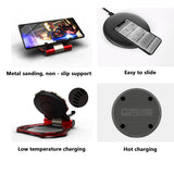 Creative Portable Mobile Phone Hold Kickstand with Quick Wireless Charger Cool Gift