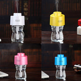Mini Night Light Water Bottle Cap USB Air Humidifier Mist Maker for Office Home