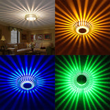 3W Flush Mounted LED Ceiling Light Home Hall Walkway Porch Decor Flower Lamp