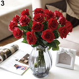 10 Pcs Artificial Latex Rose Flowers Wedding Party Office Table Bouquet Home Decor