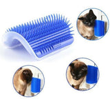 Wall Corner Grooming Massager Comb Pet Cat Self Groomer Brush Toy with Catnip