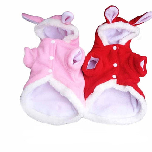 Winter Comfy Warm Cute Rabbit Costume Hoodie Pet Dog Puppy Clothes Coat Apparel