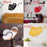 Removable 3D Home Art Mirror Wall Sticker Love Heart DIY Room Decal Decoration