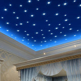 76Pcs Luminous Stars Glow in the Dark Ceiling Wall Stickers Decals for Kids Room