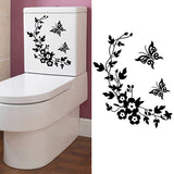 Butterfly DIY Flower Bathroom Home Decoration Wall Decals Toilet Sticker