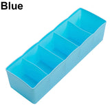 5 Cells Plastic Storage Box Tie Bra Socks Drawer Cosmetic Divider Tidy Organizer
