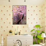 5D Full Diamond Painting Flower Tree Scenery DIY Cross Stitch Kit Wall Decor