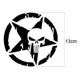 Skull Car Auto Sticker Pentagram Vinyl Decals Motorcycle Vehicle Decor Accessory