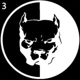 Cool Reflective Pitbull Dog Car Sticker Auto Truck Door Window Warning Decal