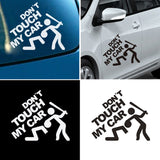 Funny Safety Warning Car Stickers DO NOT TOUCH MY CAR Styling Motorcycles Decal