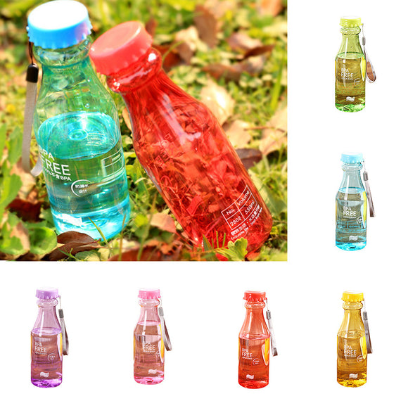 500ml Portable Candy Color Clear Travel Sport Fruit Juice Cup Water Bottle Gift