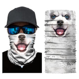3D Animal Print Outdoor Cycling Riding Headband Head Scarf Face Mask Neck Gaiter