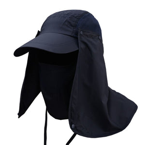 Hiking Fishing Hat Outdoors Sports Sun Resistant Neck Face Wide Brim Flap Cap