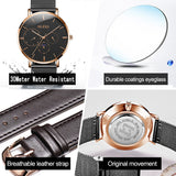 OLEVS Watch men's personality big dial fashion multi-function thin section waterproof quartz watch male