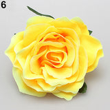 Women Sweet Big Rose Blossom Flower Wedding Bridal Hair Clip Hairpin Brooch Pin