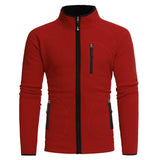 Men's Warm Coat Casual Long Sleeve Zipper Pockets Outerwear Slim Fit Jacket