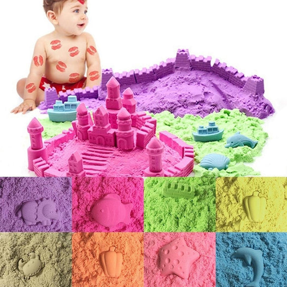 50/100/200g Magic Space Clay Sand Model Non Sticky Educational Kids Play Gift