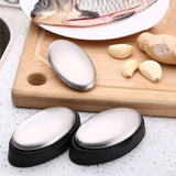 Magic Oval Deodorant Stainless Steel Soap Kitchen Bar Odor Remover Hands Washer