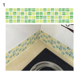 1M Mosaic Wall Stickers Bathroom Waterproof Backsplash Self Adhesive Baseboard