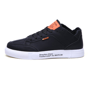 Men's Leisure Solid Color Lace Up Poly Urethane Sneakers