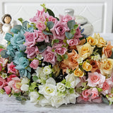 1 Bouquet Artificial Rose Flower DIY Wedding Party Home Hotel Cafe Decoration