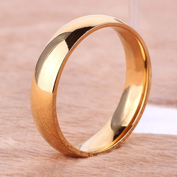 Unisex Simple Titanium Steel Couple Band Ring Engagement Wedding Jewelry Gift