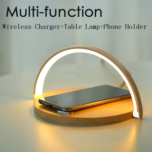 2 in 1 Wireless Charging Pad With Lamp