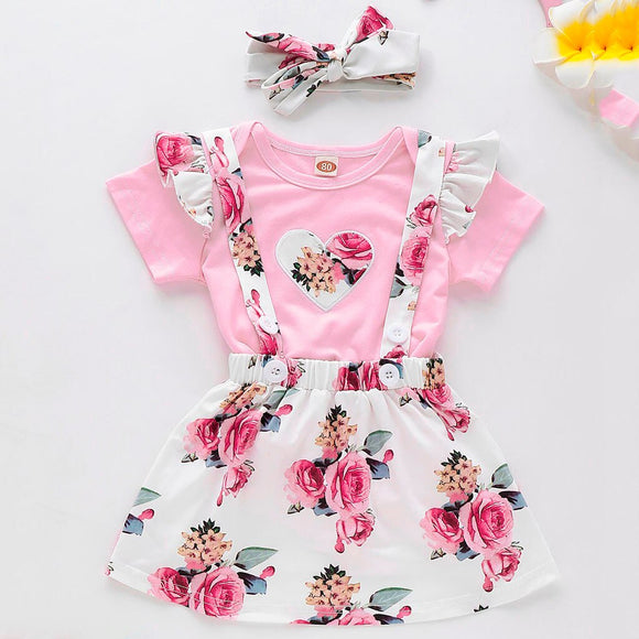 2019 children's clothing Infant Baby Girls Heart