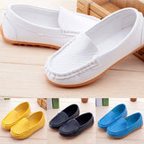Children Women Simple Embossed Faux Leather Toddler Loafers Soft Flat Shoes