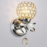 Modern Crystal Shape Wall Light Sconce Bedroom Lampshade Lamp Mount Home Decor