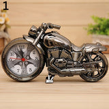 Creative Motorcycle Shape Quartz Clock Alarm Clock Time Keeper Desktop Decor
