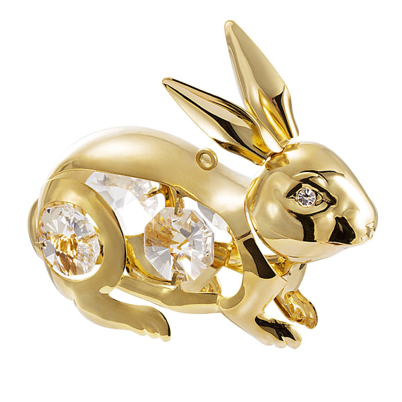 24K gold plated bunny rabbit with Swarovski