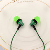 Unique 3.5mm In-Ear Headset Wired Earphone Stereo Connector Braid Rope Headphone