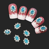 Women's Girls' Crystal Rhinestone Alloy Nail Art Stickers Flower Decor 10Pcs/Set