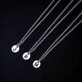 Fashion Simple Letter Round Pendant Chain Necklace Women's Jewelry Party Gift