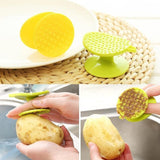 Plastic Potato Peeler Double Sided Carrot Cleaning Brush Scraper Kitchen Tool