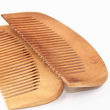 Natural Peach Wood Hair Health Care Comb Close Teeth Anti-Static Beard Comb