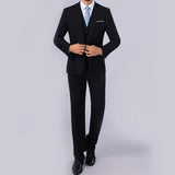 Men Slim Fit Business Leisure One Button Formal Two-Piece Suit for Groom Wedding