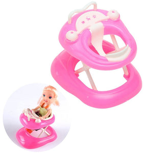 Funny Durable Plastic Accessories Mini Car Walker Toys Gift for Barbie Doll