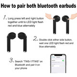 TWS Earbuds In Ears Wireless Bluetooth Double Earphones Twins Stereo Music Headset For Apple iPhone X 8 8S Samsung LG Androids