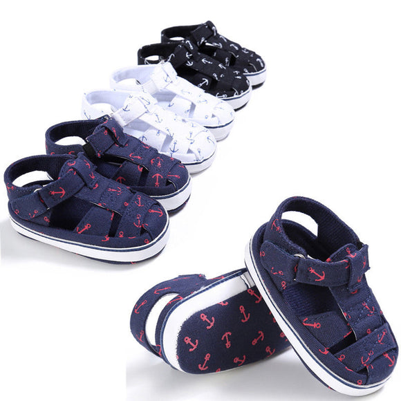 Baby Infant Kid Boy Girl Anti-Skid Soft Sole Crib Toddler Summer Sandals Shoes