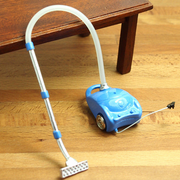Kids Toy Miniature Resin Vacuum Cleaner Sweeper Dollhouse Accessories Decor Gift