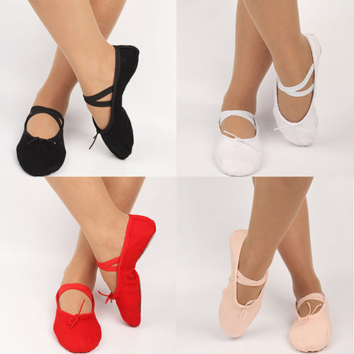 Women Girls Adult Soft Sole Ballet Dance Shoes Fitness Gymnastics Canvas Shoes
