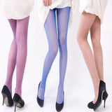 Summer Women Sexy Sheer Pantyhose Stretchy Footed Tights Candy Color Stockings