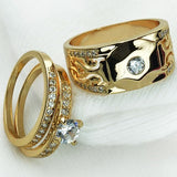 Fashion Unisex Rhinestone Finger Ring Band Couple Lovers Engagement Jewelry