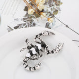 Enamel Scorpion Suit Jewelry Creative Unisex Night Club Brooch Pin Badge Decor
