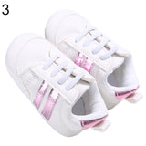 Fashion Toddler Baby Boys Girls Soft Bottom Anti-Skid Sport Prewalker Crib Shoes