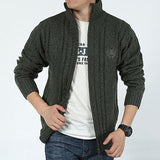 Fashion Men's Knitted Sweater Cardigan Casual Slim Fit Knitwear Coat Jacket Top