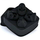 3D Skull Head Shape Silicone Ice Cube Mold Tray Bar Home Party Halloween Mould
